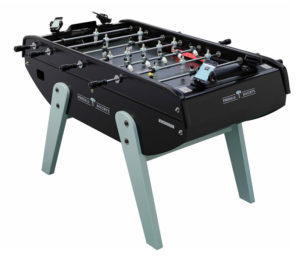 The Bonzini Tecbak eFoosball table connected to the Foosball Society