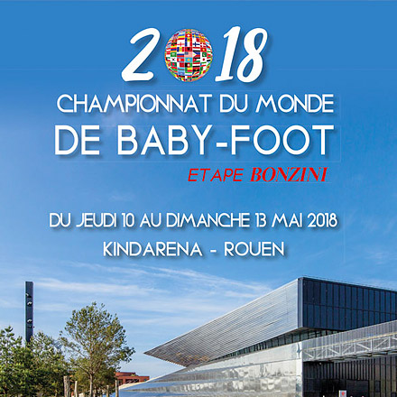 Compéttion-baby-foot World Series by Bonzini 2018