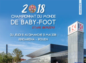 Affiche du championnat du Monde de Baby-Foot Bonzini 2018